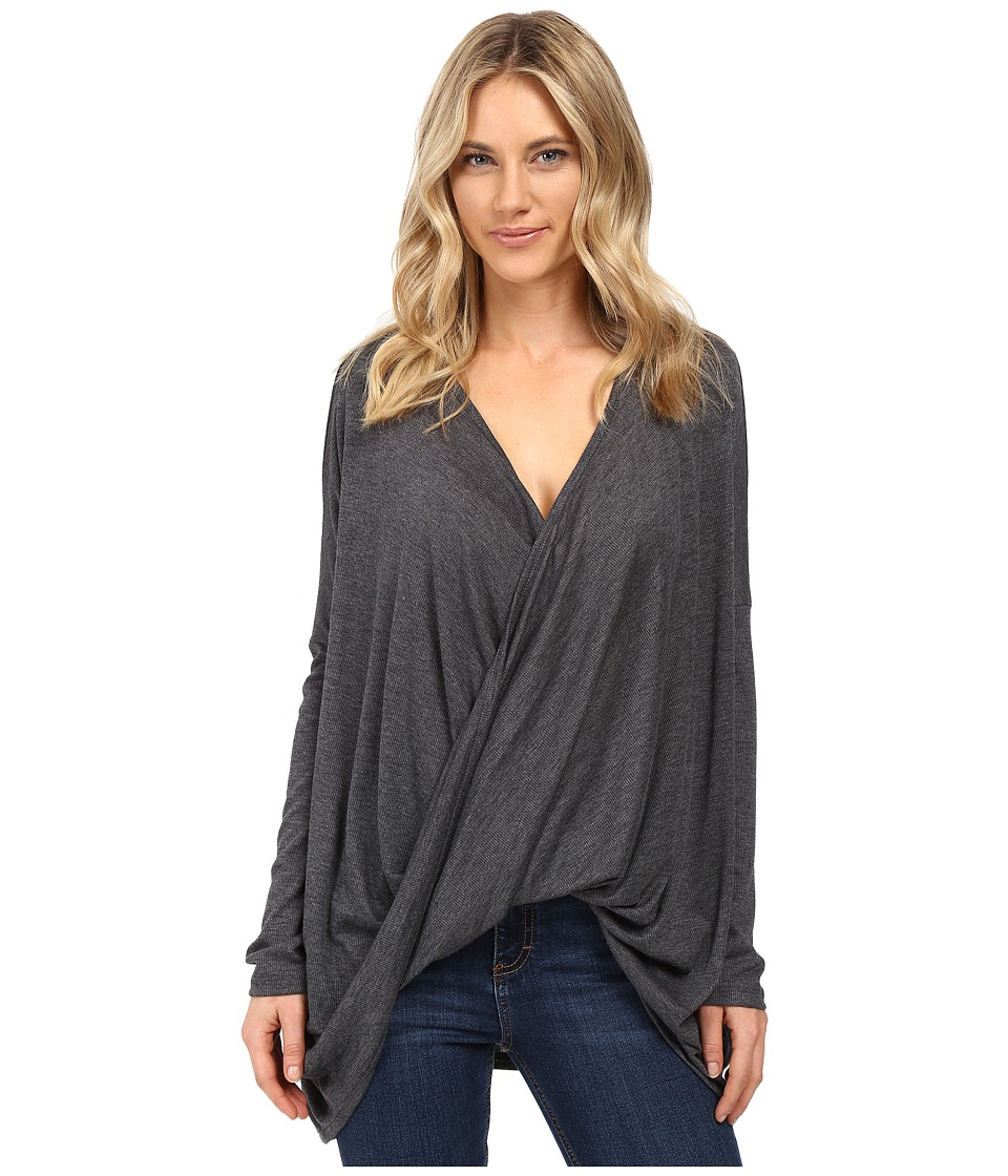 Brigitte Bailey - Sinead Long Sleeve Top (Charcoal) Women's Clothing
