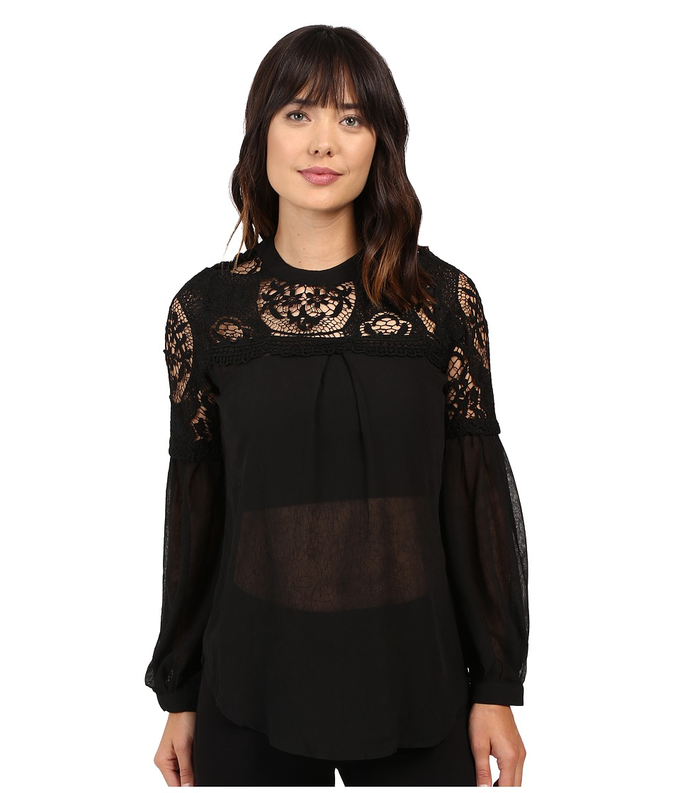 Brigitte Bailey - Alexane Long Sleeve Top (Black) Women's Clothing