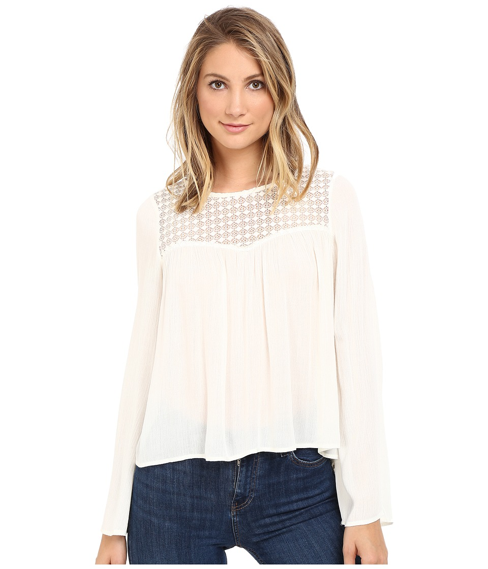 Brigitte Bailey - Cyra Long Sleeve Top (Vanilla) Women's Clothing