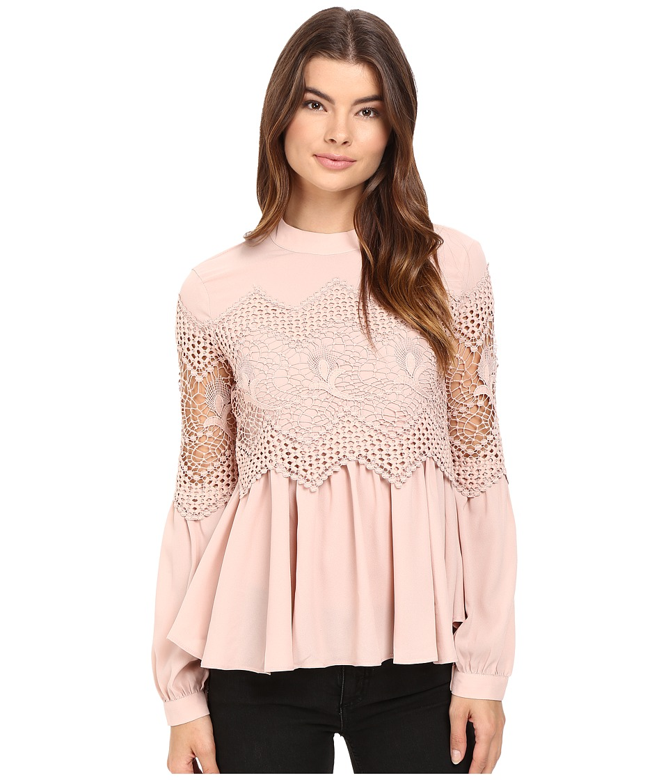 Brigitte Bailey - Calandra Long Sleeve Top (Blush) Women's Clothing