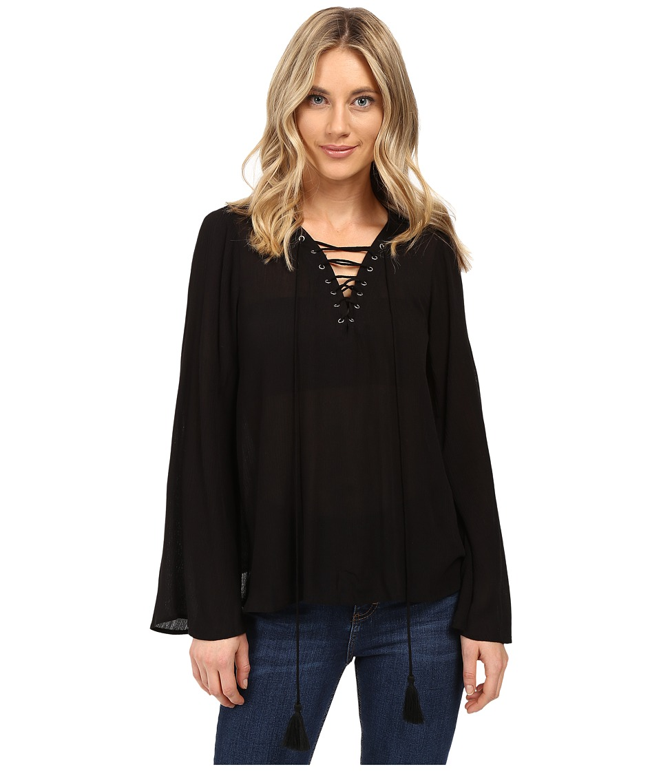 Brigitte Bailey - Gianna Bell Sleeve Top (Black) Women's Clothing