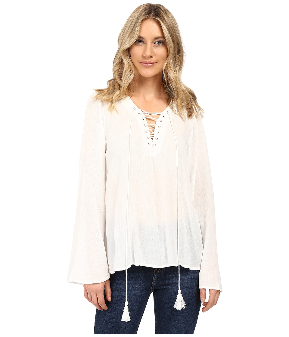 Brigitte Bailey - Gianna Bell Sleeve Top (Off-White) Women's Clothing