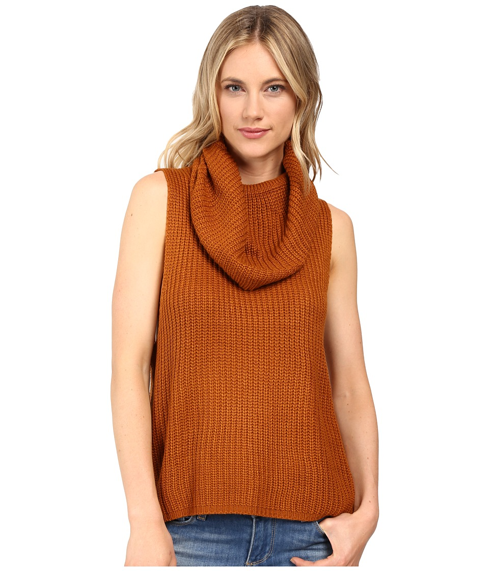 Brigitte Bailey - Una Sleeveless Sweater (Rust) Women's Sweater