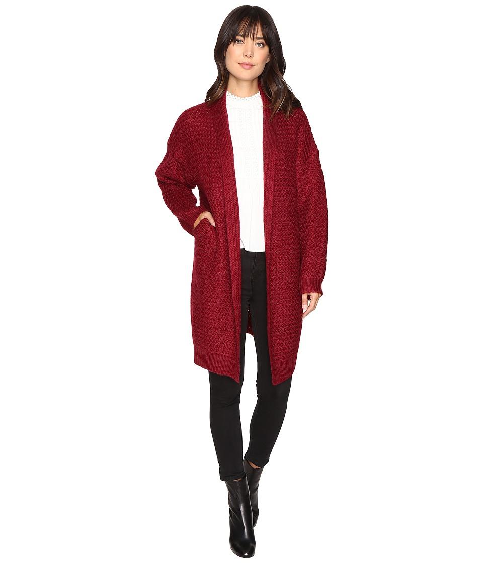 Brigitte Bailey - Dagny Cardigan (Burgundy) Women's Sweater