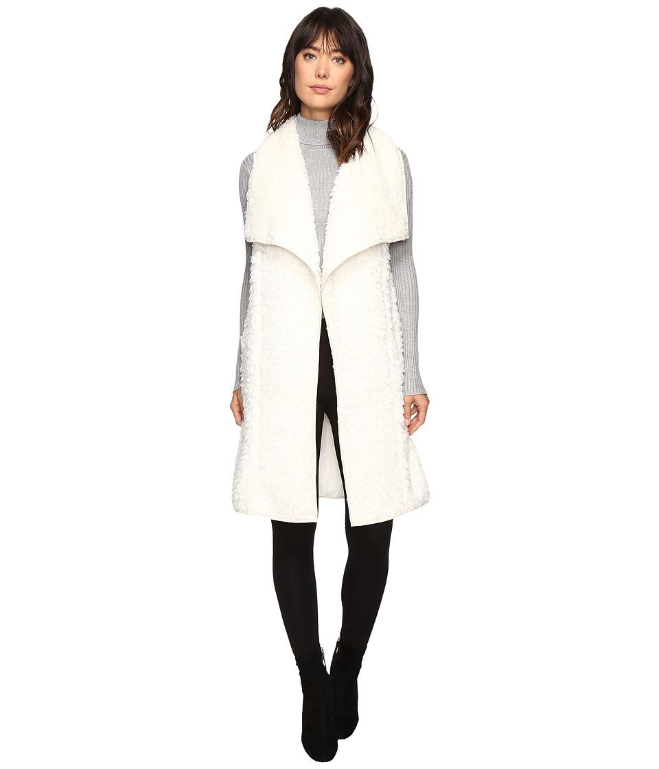 Brigitte Bailey - Trudy Fuzzy Vest (Off-White) Women's Vest