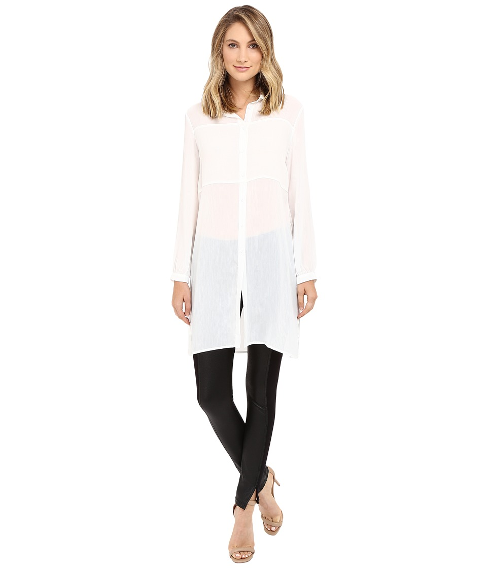 Brigitte Bailey - Federica Long Sleeve Tunic (White) Women's Blouse