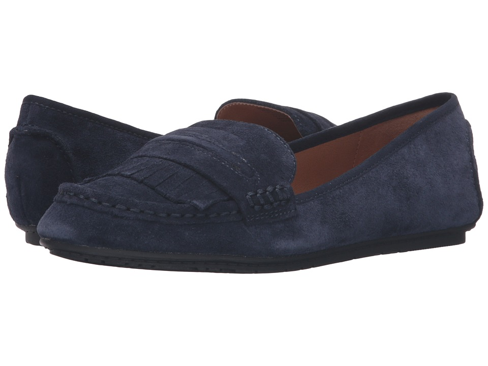 Kenneth Cole Reaction Bare-Ing (Navy Suede) Women