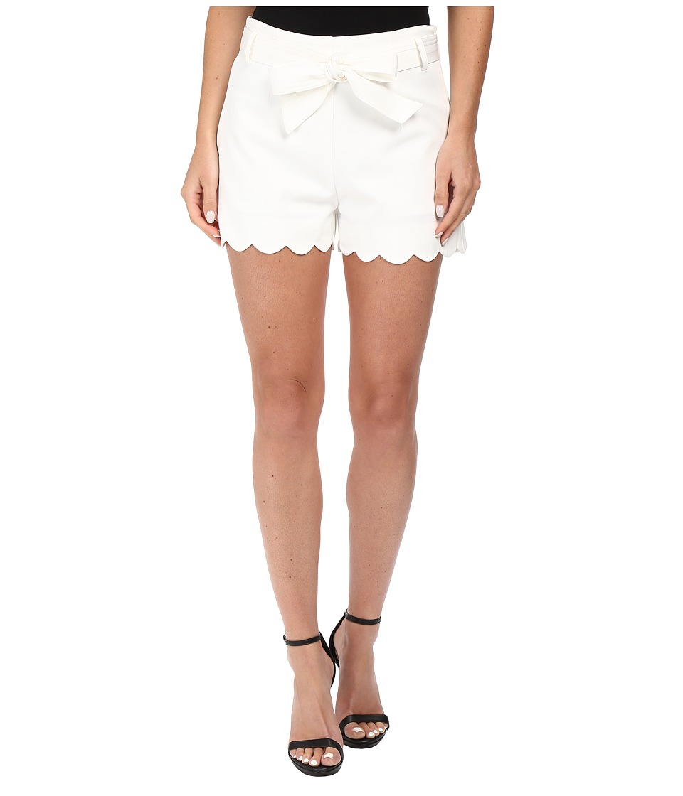 Brigitte Bailey - Gracia Scalloped Edge Shorts (Off-White) Women's Shorts