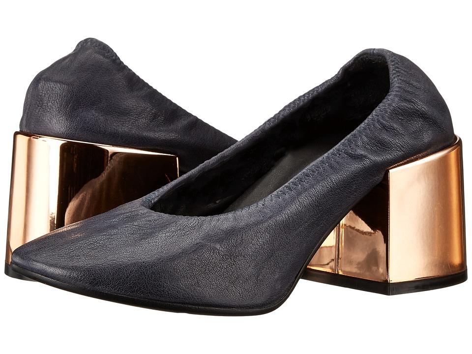 MM6 Maison Margiela - Metallic Heel Pump (Blue Leather) Women's Shoes