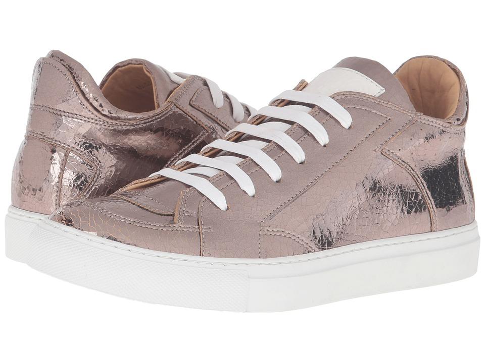 MM6 Maison Margiela - Logo Low Top Sneaker (Bronze Mirror Fabric) Women's Shoes