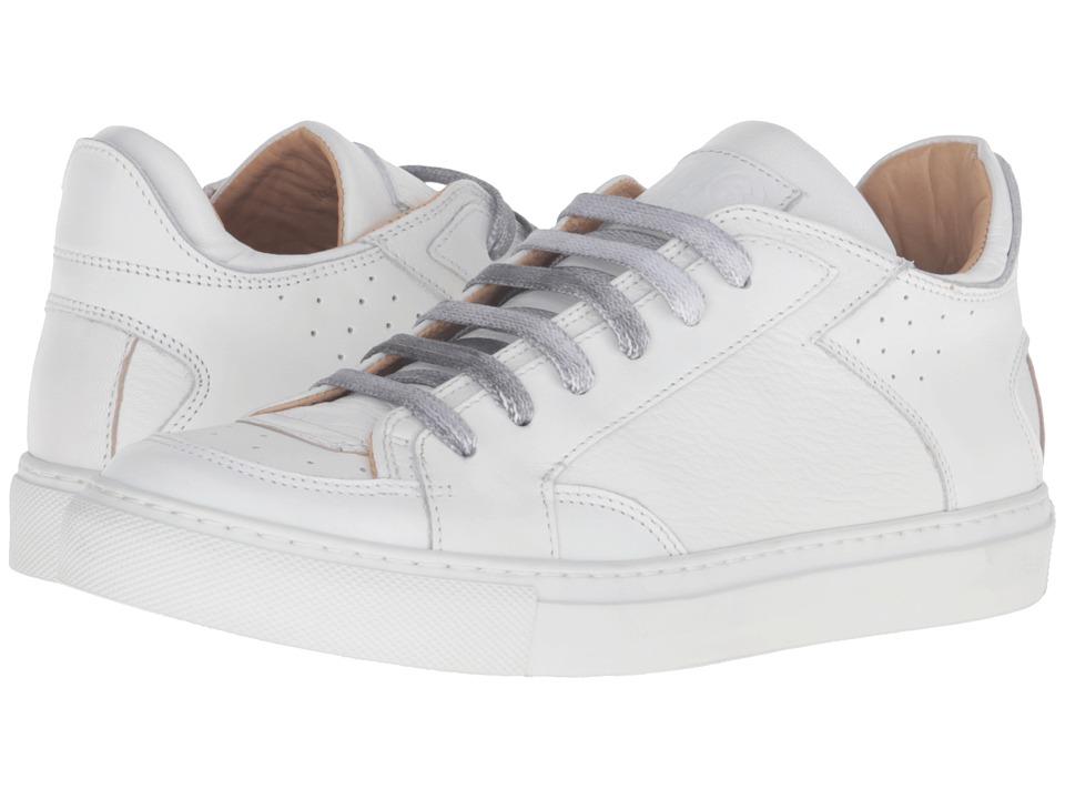 MM6 Maison Margiela - Logo Low Top Sneaker (White Nappa Leather) Women's Shoes