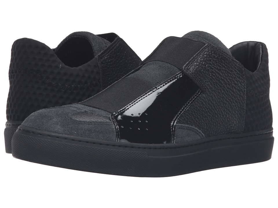 MM6 Maison Margiela - Elastic Low Slip-On (Dark Gray/Black Multi) Women's Slip on Shoes