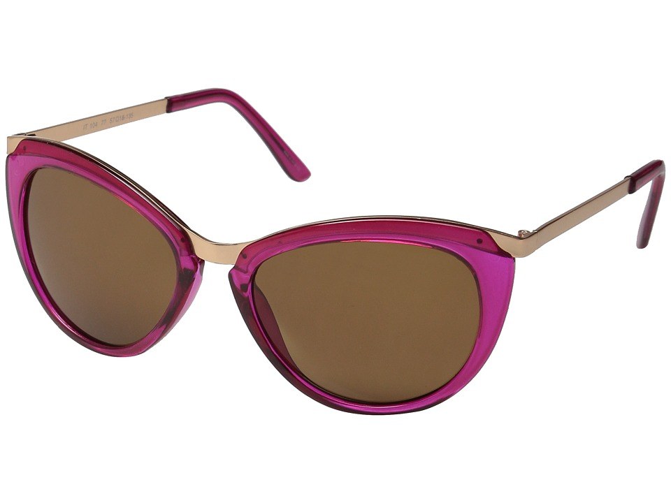 Ivanka Trump - 104-77 (Raspberry) Fashion Sunglasses