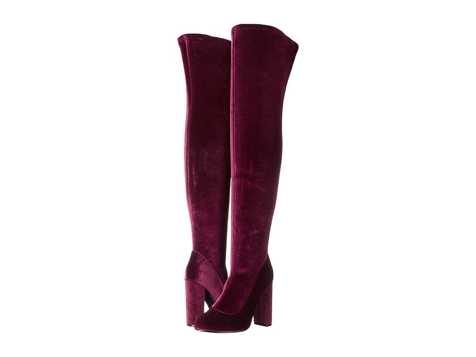LFL by Lust For Life - Maven (Burgundy Velvet) Women's Pull-on Boots