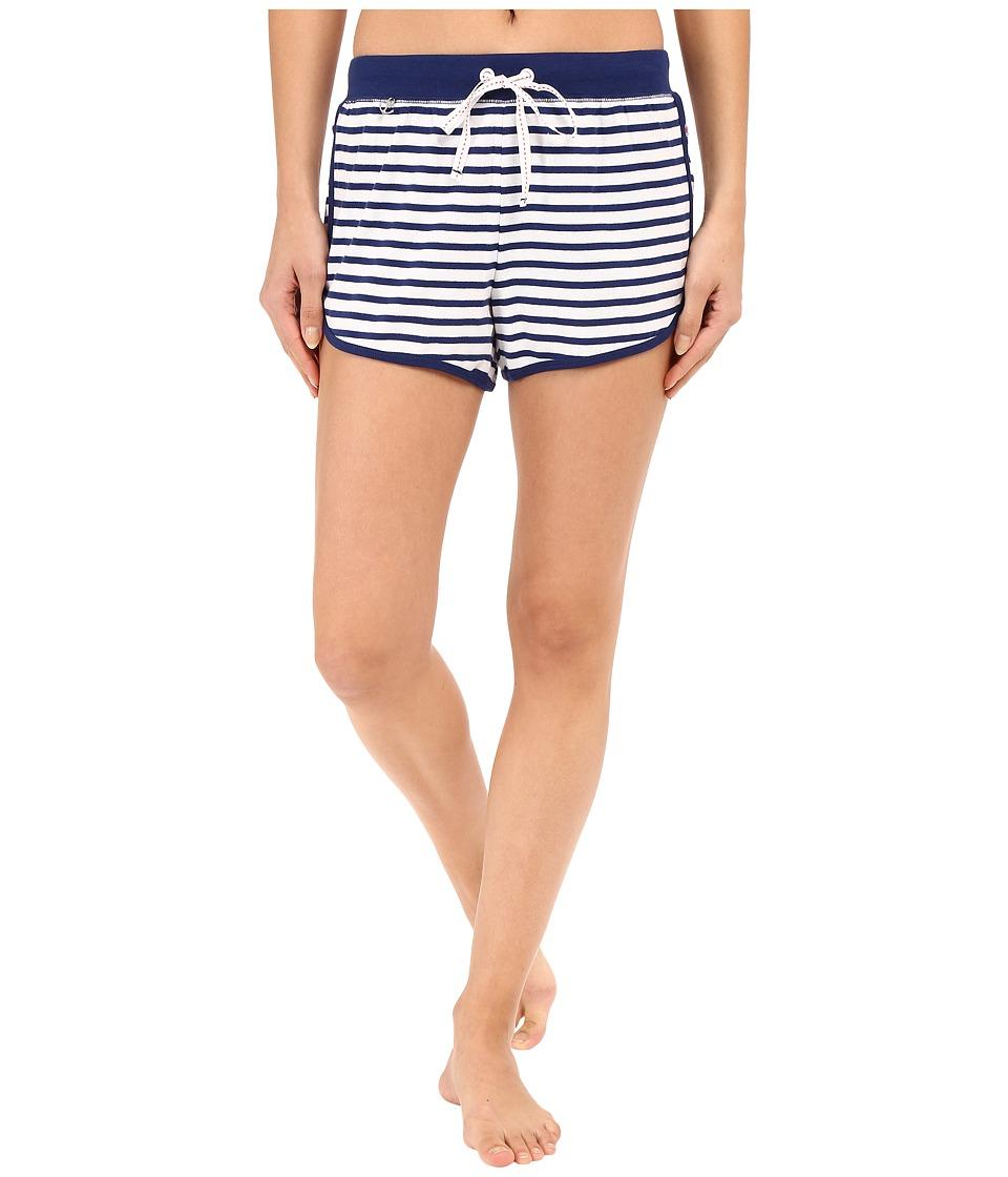 Jane & Bleecker - Rib Shorts 3571152 (Blue Stripe) Women's Pajama