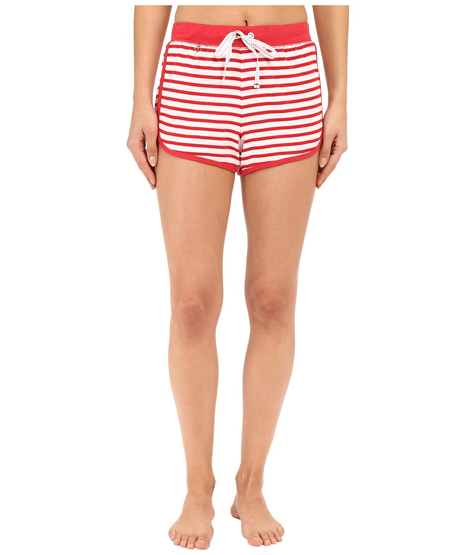 Jane & Bleecker - Rib Shorts 3571152 (Red Stripe) Women's Pajama