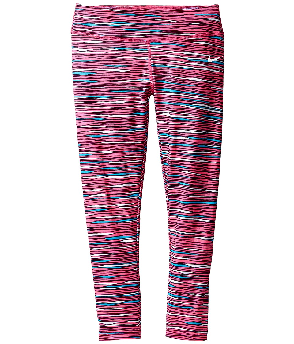 Nike Kids - Dri-FIT Essentials Allover Print Tight (Little Kids) (Hyper Pink) Girl's Casual Pants