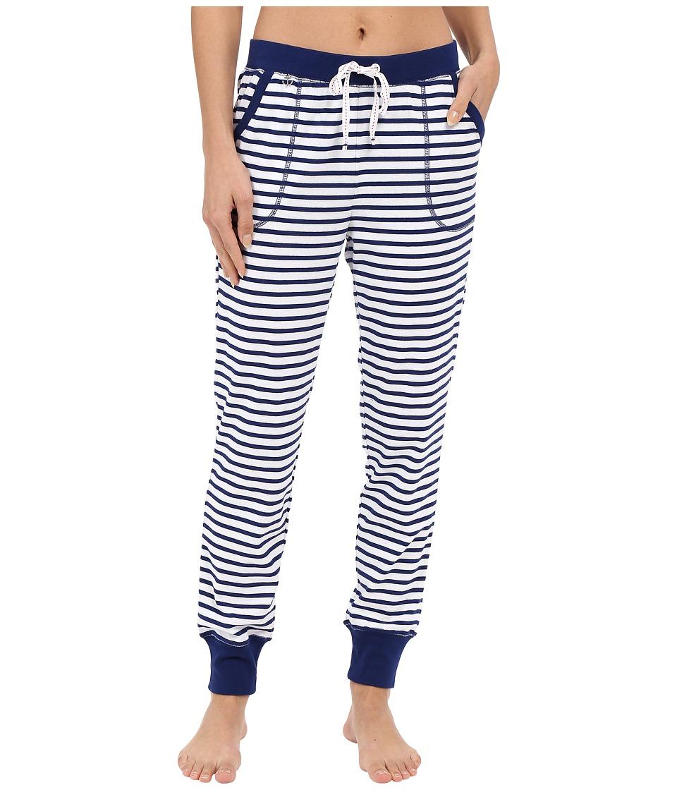 Jane & Bleecker - Rib Pants 3581152 (Blue Stripe) Women's Pajama