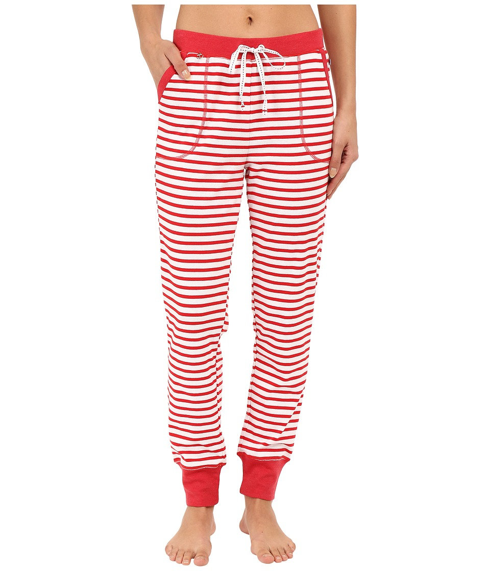 Jane & Bleecker - Rib Pants 3581152 (Red Stripe) Women's Pajama