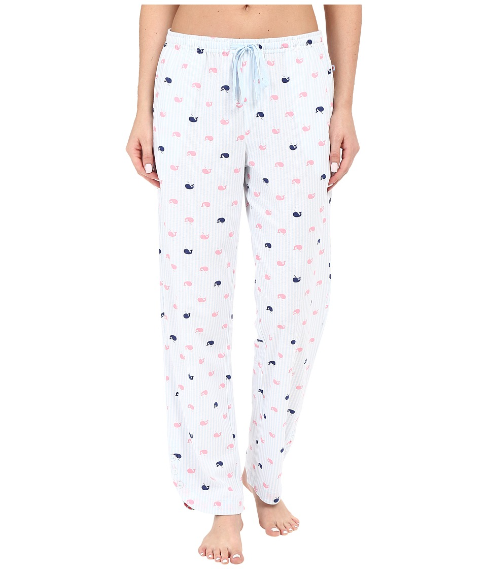 Jane & Bleecker - Side Button Pants 3581155 (Whale Stripe) Women's Pajama