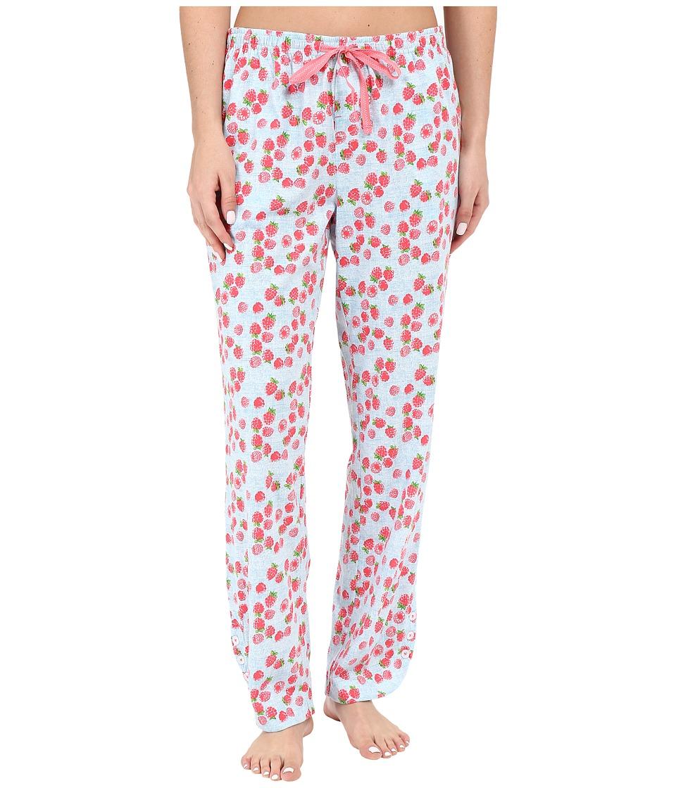 Jane & Bleecker - Side Button Pants 3581155 (Raspberry Chambray) Women's Pajama