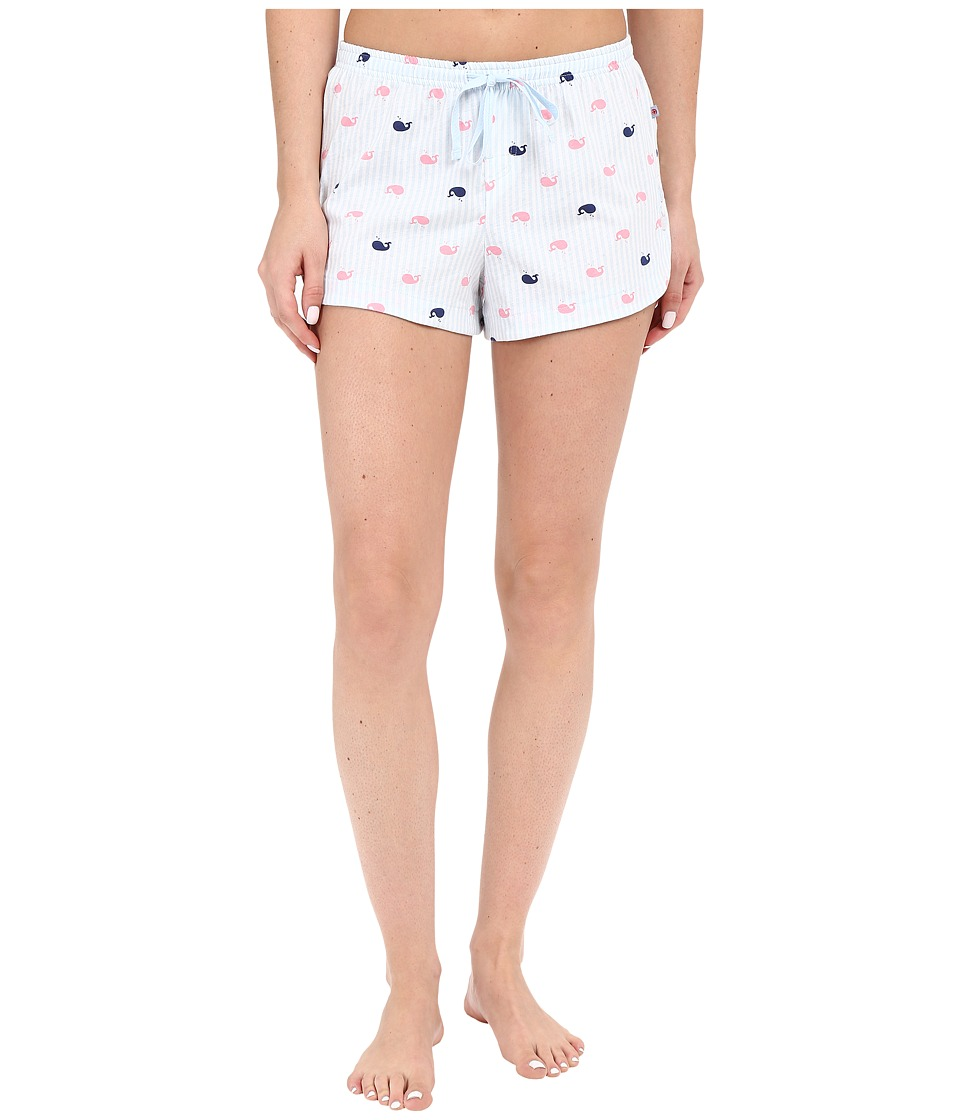 Jane & Bleecker - Side Button Shorts 3571155 (Whale Stripe) Women's Pajama