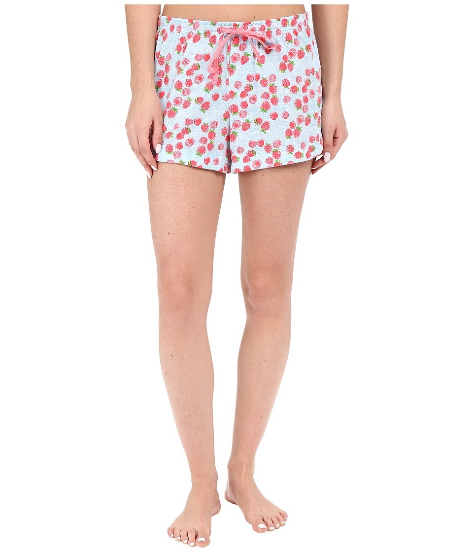Jane & Bleecker - Side Button Shorts 3571155 (Raspberry Chambray) Women's Pajama