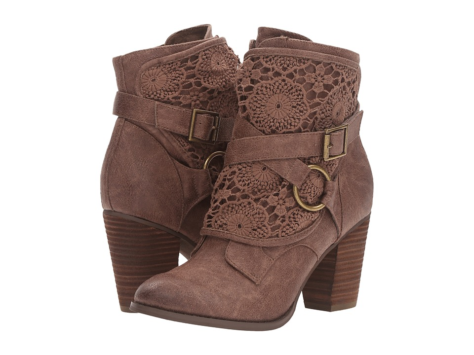 Not Rated - Crunch Time (Taupe) Women's Boots