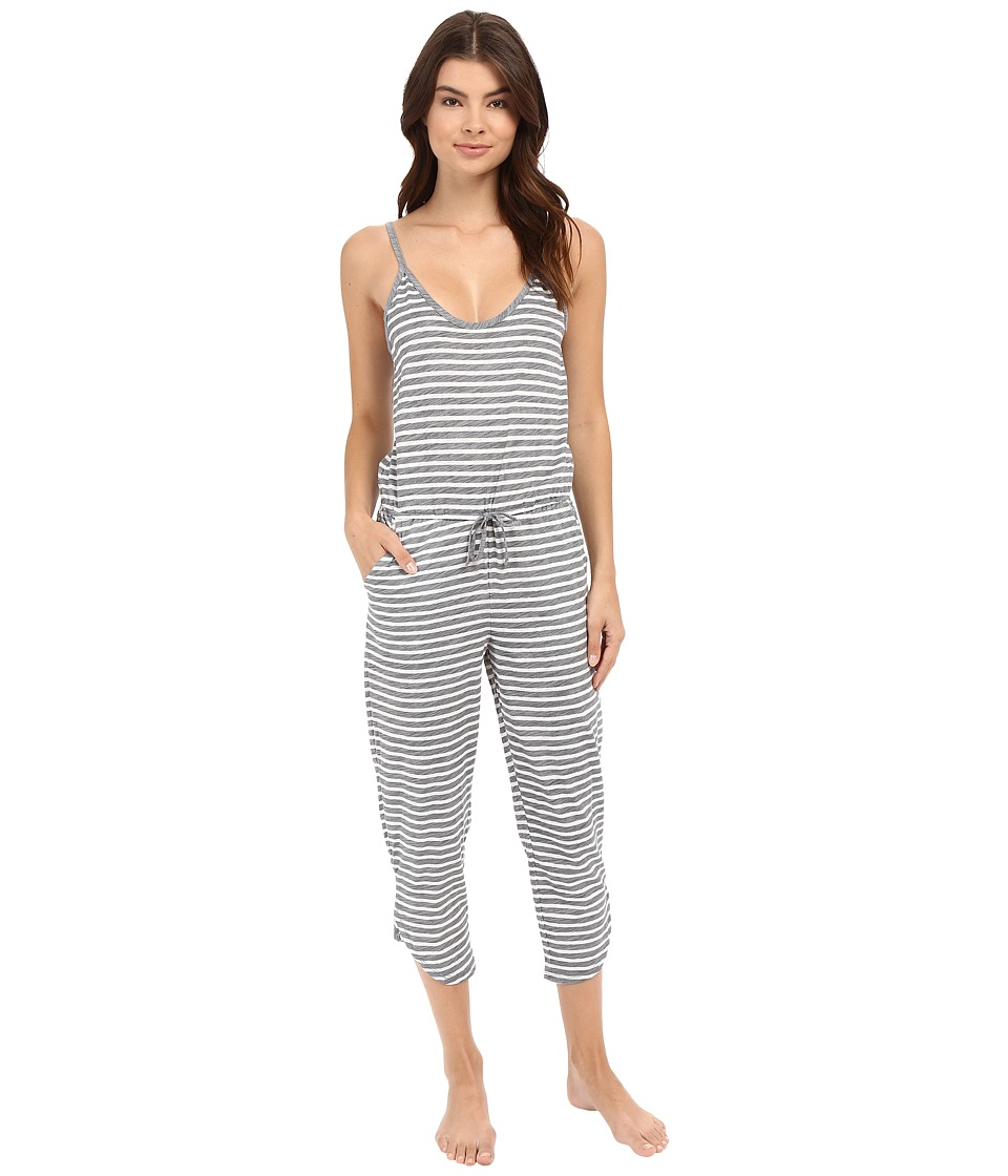 Jane & Bleecker - Lounge Jumpsuit 3591159 (Grey Heather Stripe/Floral) Women's Jumpsuit & Rompers One Piece