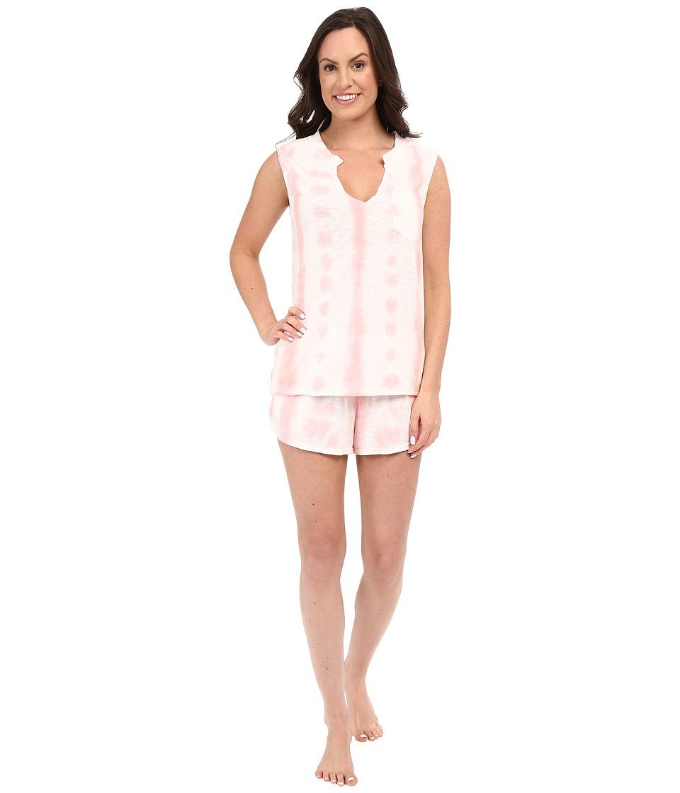 Jane & Bleecker - Tie-Dye Slub Shorts Set 3591158 (Pink) Women's Pajama Sets