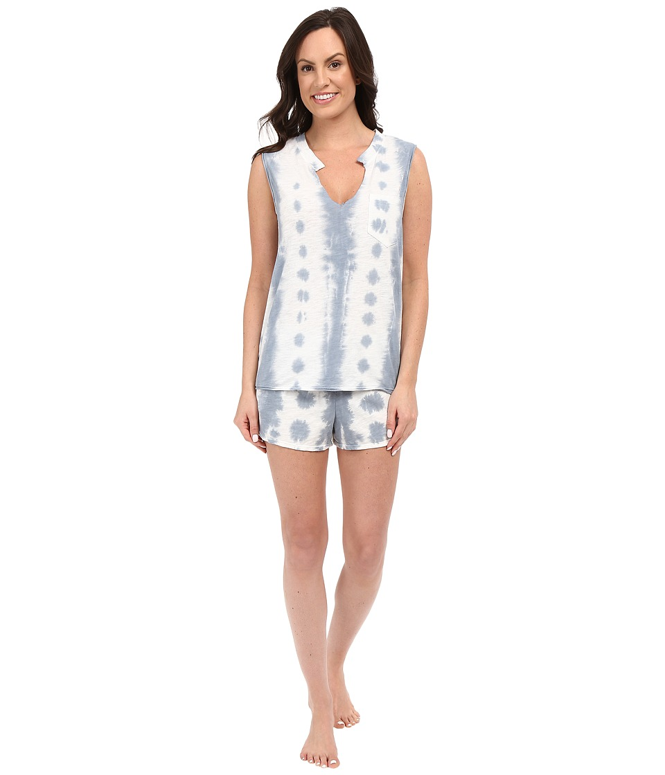 Jane & Bleecker - Tie-Dye Slub Shorts Set 3591158 (Blue) Women's Pajama Sets