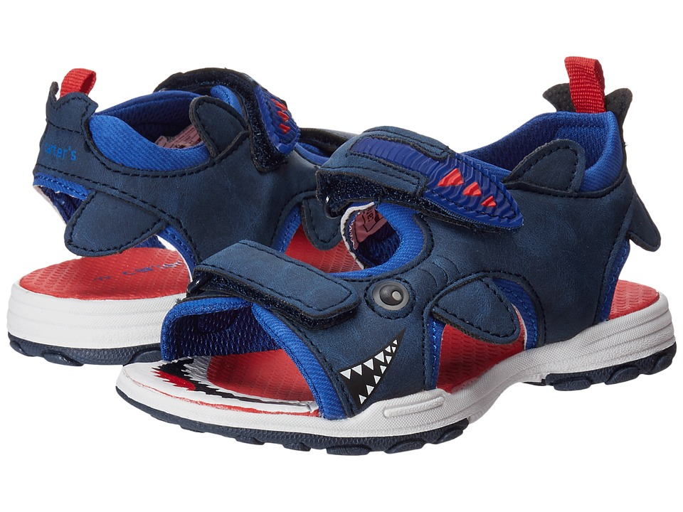Carters - Jaws (Toddler/Little Kid) (Navy/Red) Boys Shoes
