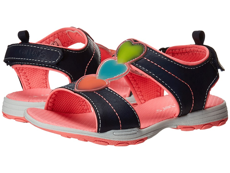 Carters - Sparkly 2 (Toddler/Little Kid) (Navy/Pink) Girls Shoes
