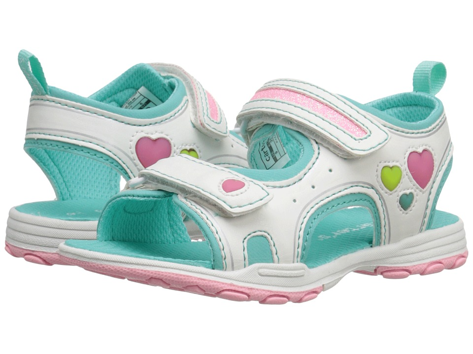 Carters - Razzle (Toddler/Little Kid) (White/Turquoise) Girls Shoes