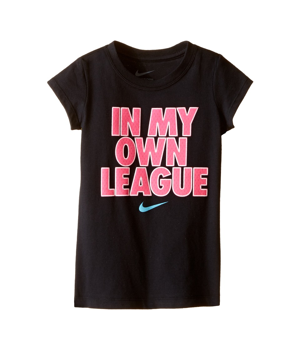 Nike Kids - In My Own League Short Sleeve Tee (Toddler) (Black) Girl's T Shirt