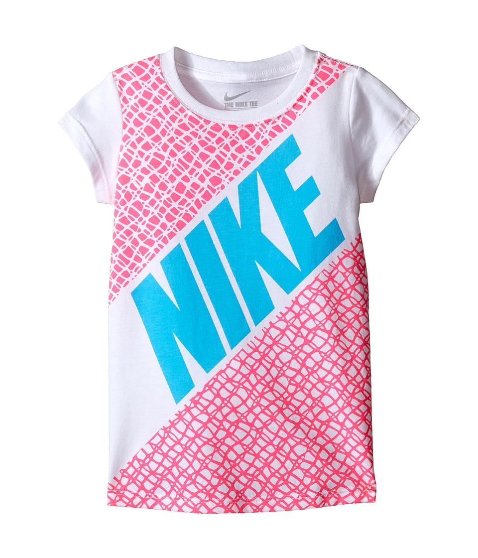 Nike Kids - Lynx Block Short Sleeve Tee (Toddler) (White) Girl's T Shirt