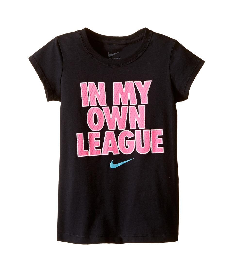 Nike Kids - In My Own League Short Sleeve Tee (Little Kids) (Black) Girl's T Shirt