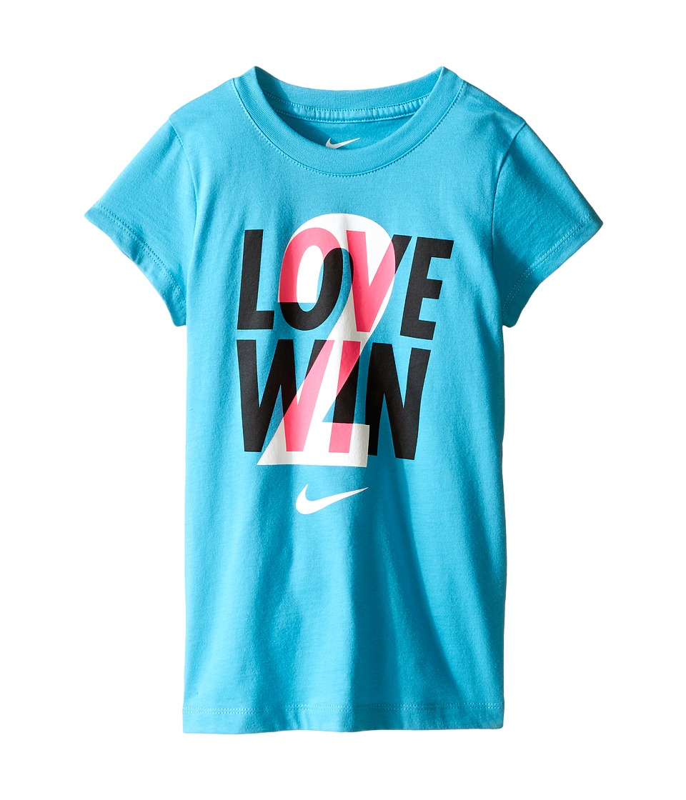 Nike Kids - Love 2 Win Short Sleeve Tee (Little Kids) (Omega Blue) Girl's T Shirt