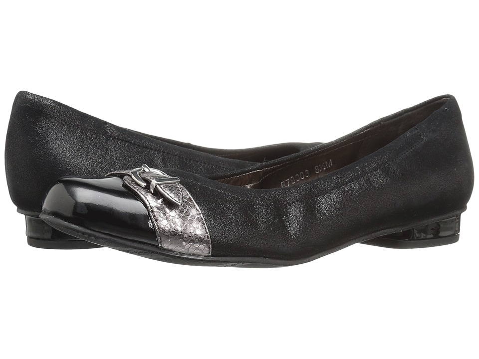 Rose Petals - Mulberry (Black Suede/Black Patent/Pewter Snake Print) Women's Shoes