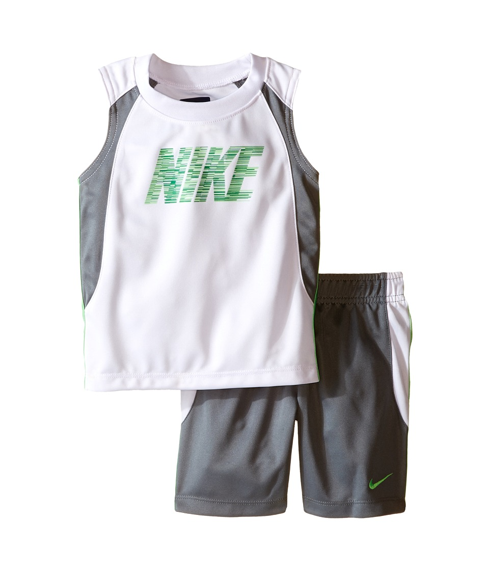 Nike Kids - Muscle Short Set (Infant) (Cool Grey) Boy's Active Sets