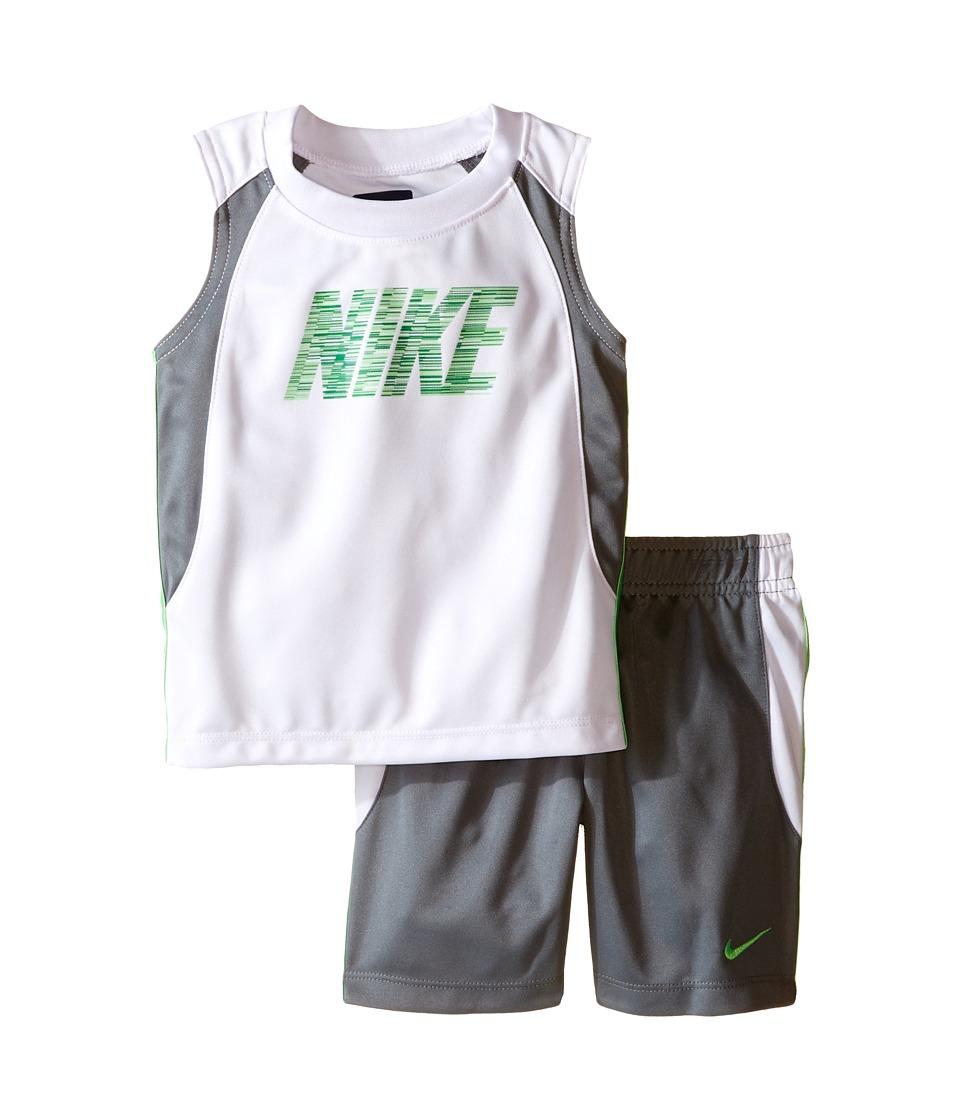 Nike Kids - Muscle Short Set (Infant) (Cool Grey) Boy's Active Sets