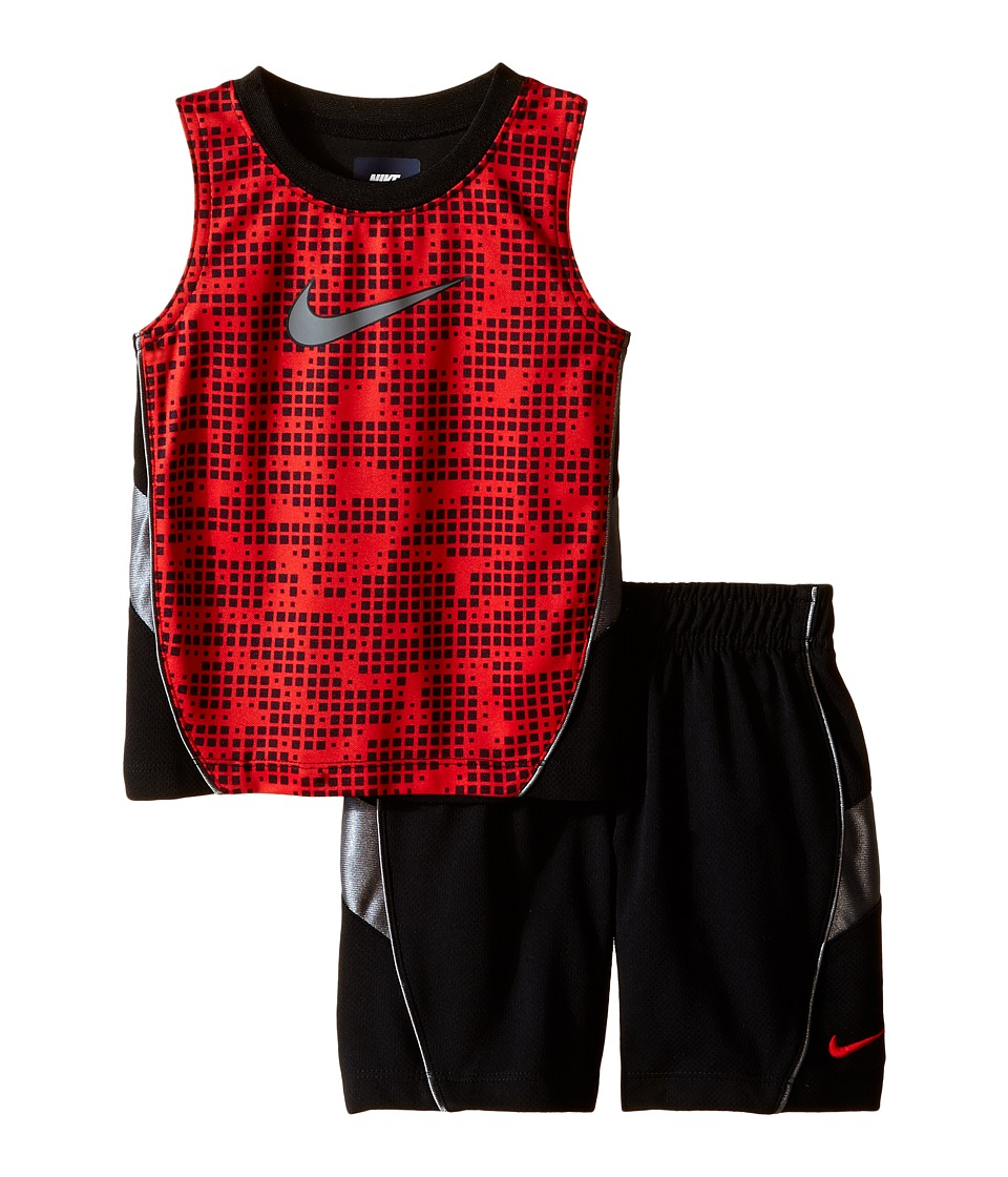 Nike Kids - Muscle Short Set (Infant) (Black) Boy's Active Sets