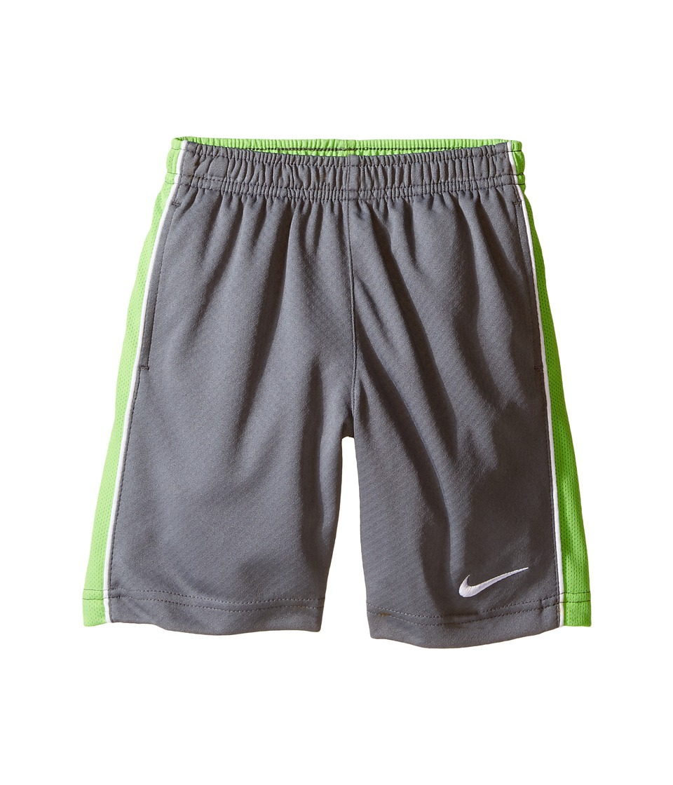 Nike Kids - Acceler 8 Shorts (Toddler) (Cool Gray/Action Green) Boy's Shorts