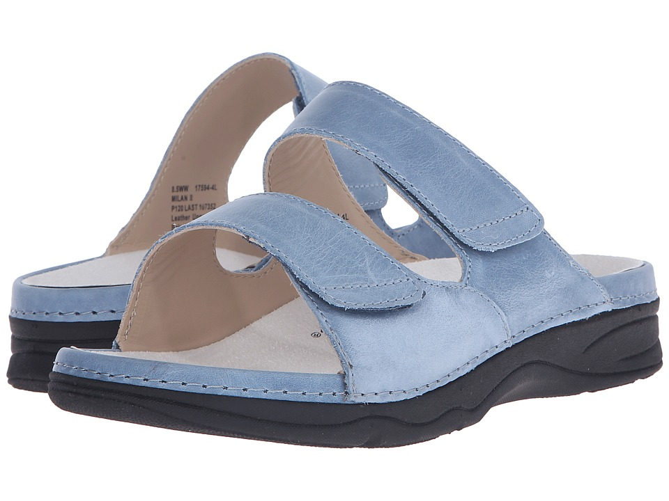 Drew - Milan II (Slate Blue) Women's Sandals