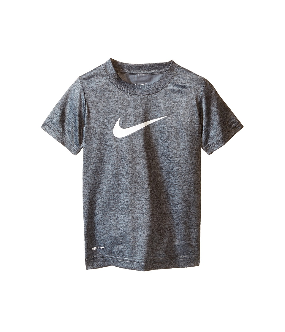 Nike Kids - Faux Heather Dri-FIT Short Sleeve Tee (Toddler) (Cool Gray Heather) Boy's Clothing