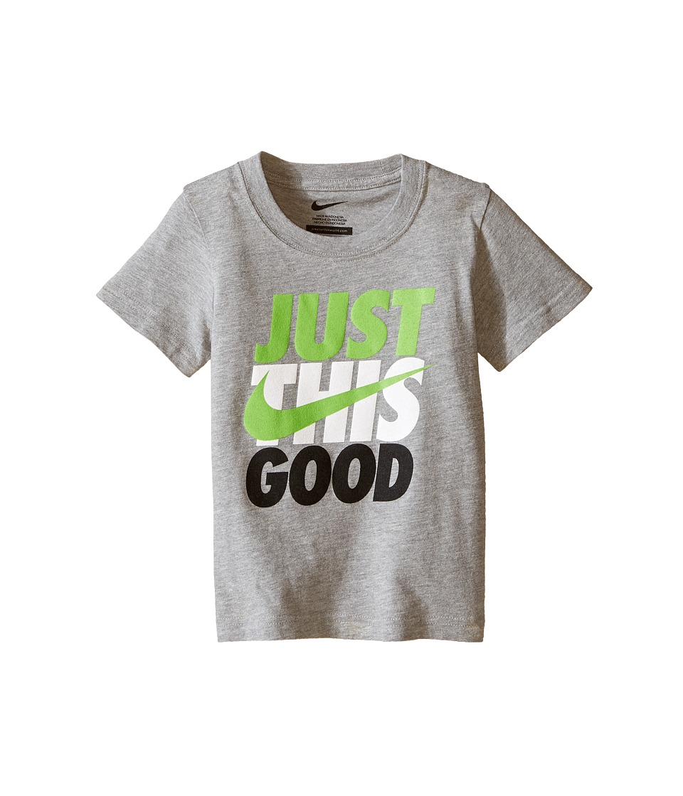 Nike Kids - This Good Short Sleeve Tee (Toddler) (Dark Grey Heather) Boy's Clothing