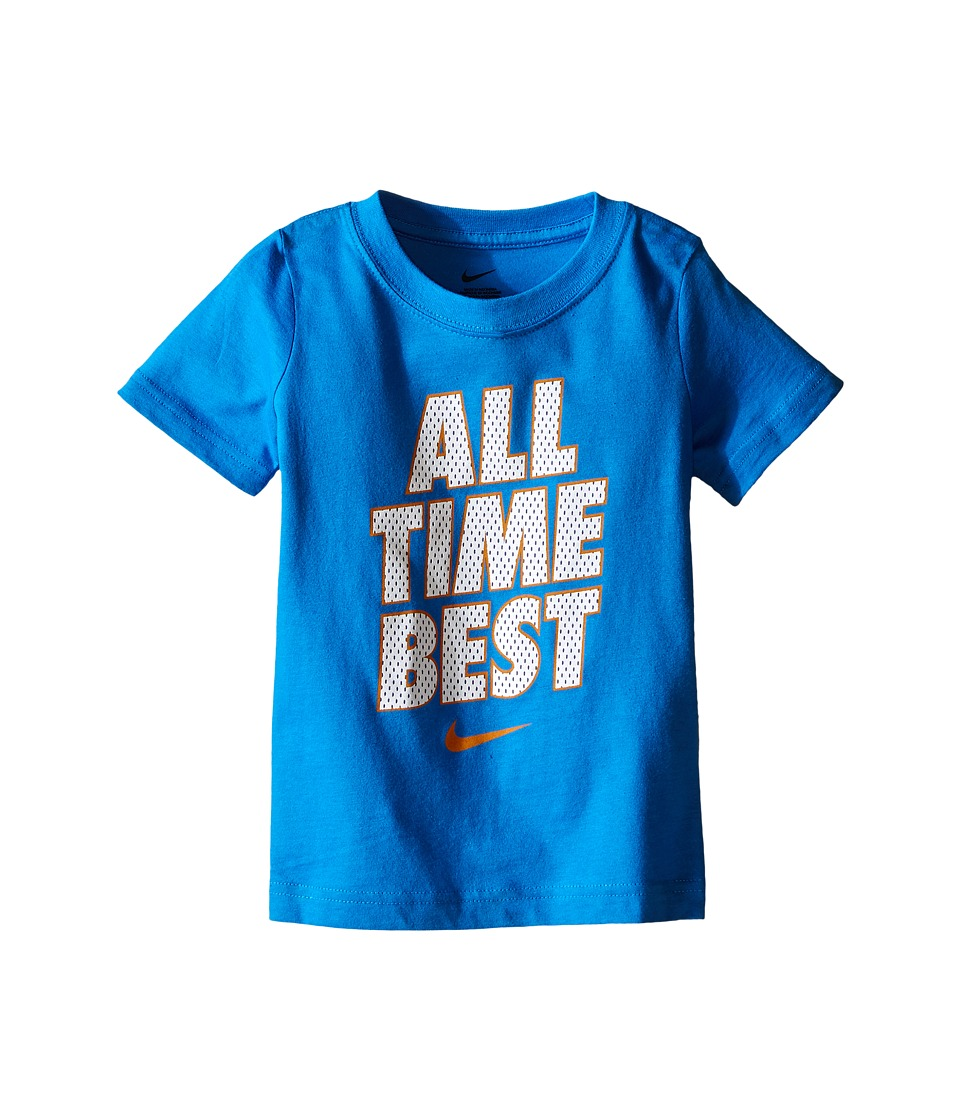 Nike Kids - All Time Best Short Sleeve Tee (Toddler) (Light Photo Blue) Boy's T Shirt