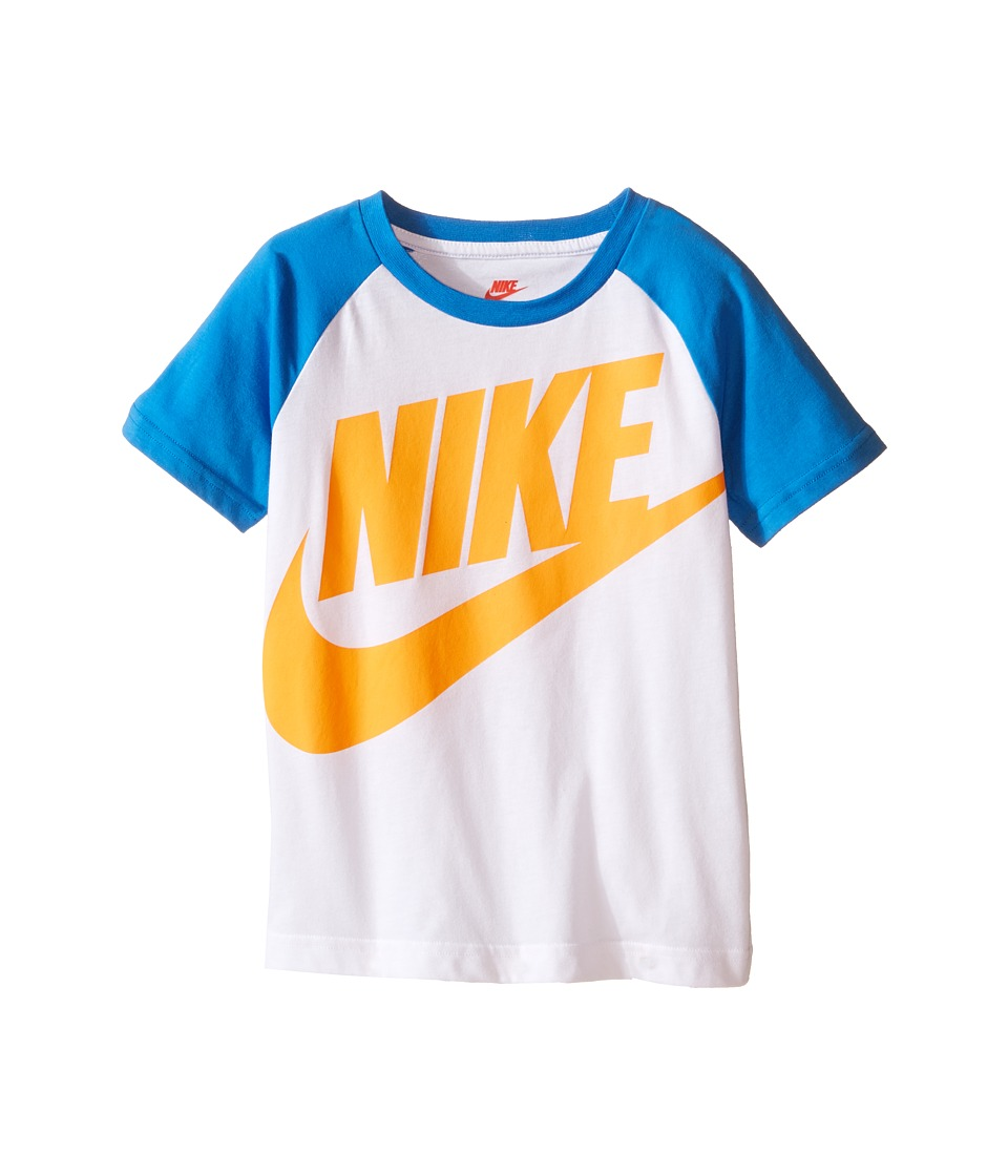 Nike Kids - Ya J Alumni Raglan Tee (Little Kids) (White) Boy's T Shirt