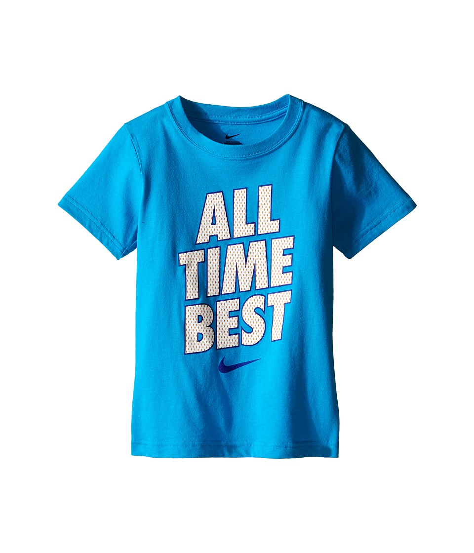Nike Kids - All Time Best Short Sleeve Tee (Little Kids) (Light Photo Blue) Boy's T Shirt