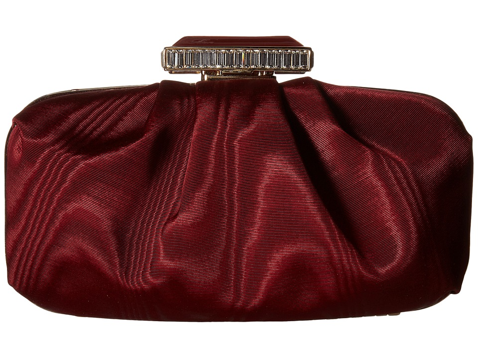 Oscar de la Renta - Goa Moire Faille (Bordeaux Moire Faille) Clutch Handbags